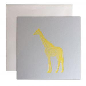 Giraf kaart fluor geel Letterpers 2