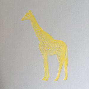 Giraf kaart fluor geel Letterpers 3
