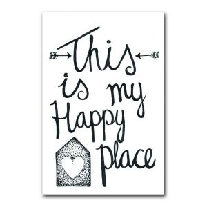 "Kaart ""This is my happy place"" BDDesigns 1"