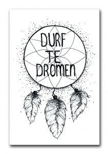 """Kaart """"Durf te dromen"""" BDDesigns 1"""