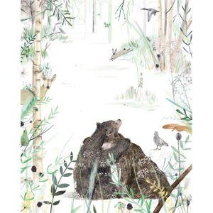 Kaart knuffelende beren, Ruth Hengeveld 1
