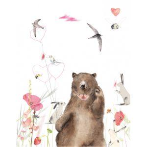 Kaart zwaaiende beer, Ruth Hengeveld 1