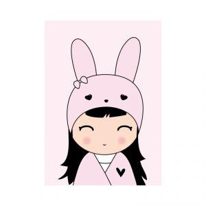 Kaart meisje konijn, Dots Lifestyle