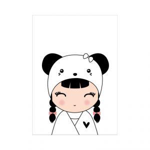 Kaart meisje panda, Dots Lifestyle