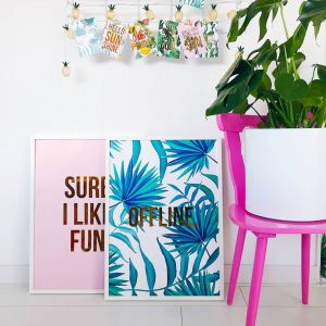 Poster offline jungle, Studio Stationery 2