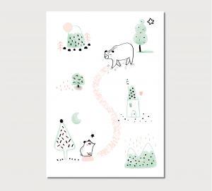 A5 kaart beren, Charlotte & the Teapot 1