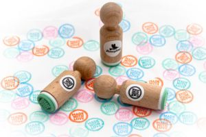 "Ministempel ""Made with love"", Miss Honeybird 3"