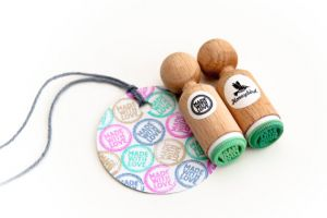 "Ministempel ""Made with love"", Miss Honeybird 2"
