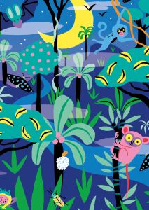 Kaart Night Jungle, Marijke Buurlage Illustration 2