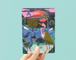 Kaart Vogelreservaat, Marijke Buurlage Illustration 1
