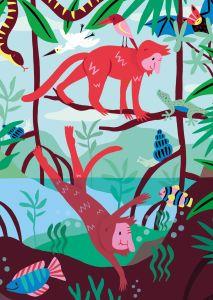 Kaart Mangrove, Marijke Buurlage Illustration 2