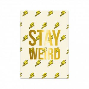 Kaart Stay Weird, Studio Stationery 1