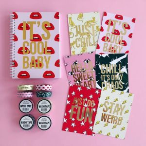 Notitieboek Its's cool baby (lips), Studio Stationery 2