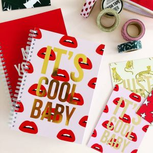 Notitieboek Its's cool baby (lips), Studio Stationery 4