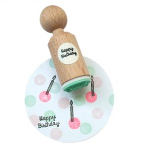Ministempel Happy Birthday (geschreven), Miss Honeybird 1