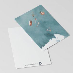 Kaart zwemmen in zee, Studiozwaanstraat 4