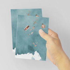 Kaart zwemmen in zee, Studiozwaanstraat 1
