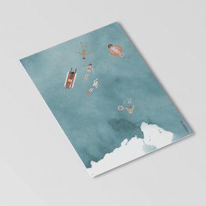 Kaart zwemmen in zee, Studiozwaanstraat 3