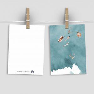 Kaart zwemmen in zee, Studiozwaanstraat 2