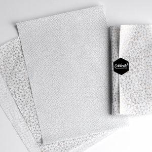 Zijdevloeipapier grijs of goud patroon 2