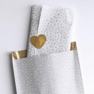 Zijdevloeipapier grijs of goud patroon 3