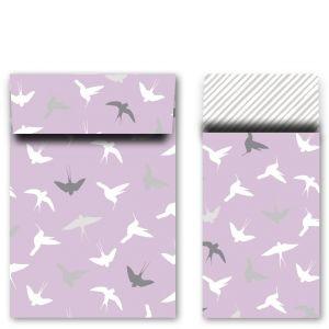 Zakje vogeltjes rose klein/middel 1