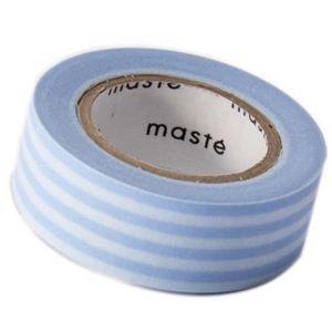 Beschrijfbaar maskingtape blauwe streep Masté 1