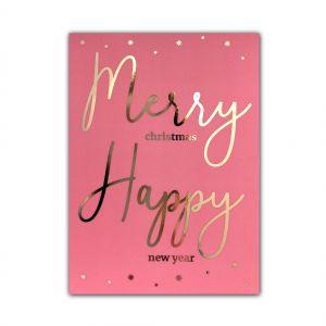 Kerstkaart Merry Happy, LVP 1