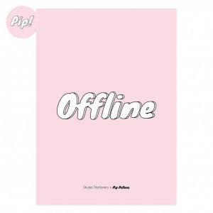 Poster offline rose Pip Pellens, Studio Stationery 1