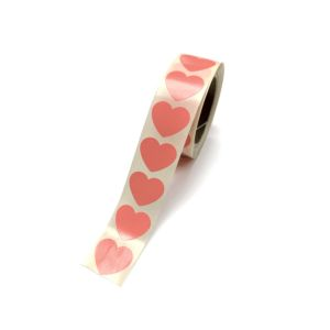 Sticker hart neon oranje (groot/klein) 2