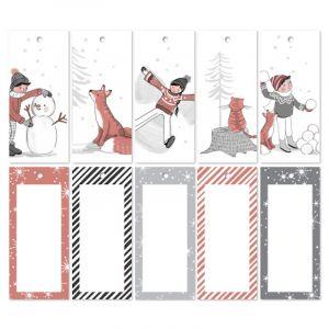 Setje cadeaulabels Kerstmis (recht) 1