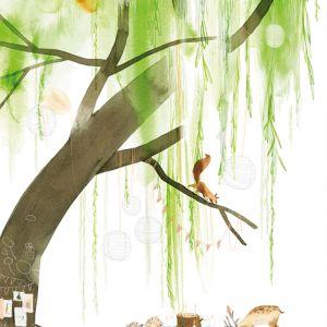 A6 kaart dieren onder boom, Ruth Hengeveld 2