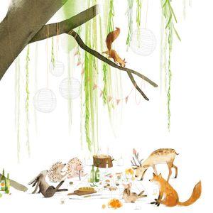 A6 kaart dieren onder boom, Ruth Hengeveld 1