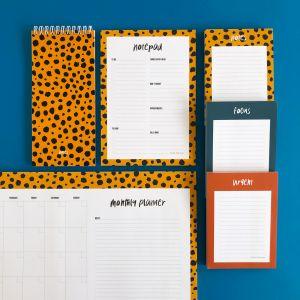 A5 Notepad cheetah, Studio Stationery 5