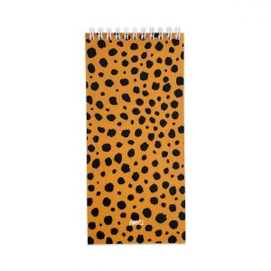 Notitieblok smal cheetah, Studio Stationery 3