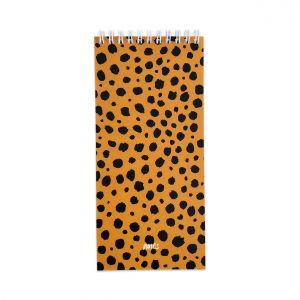Notitieblok smal cheetah, Studio Stationery 3