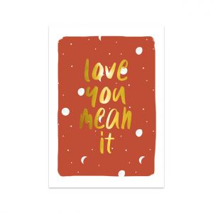 Kaart love you mean it, Studio Stationery 1
