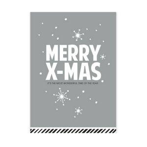 Kerstkaart Merry X-Mas (CWH) 1