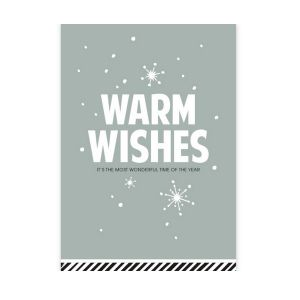 Kerstkaart Warm Wishes (CWH) 1