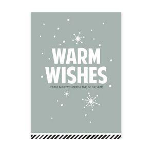 Kerstkaart Warm Wishes (CWH) 1
