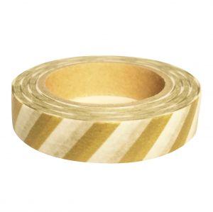 Maskingtape goud-wit gestreept Grande Masté