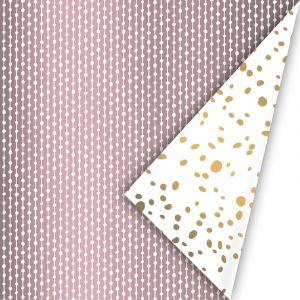 Cadeaupapier lila met streepje/bolletje 4