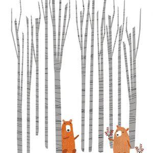 Kaart Ik zag twee beren...Studio Zwaanstraat 3