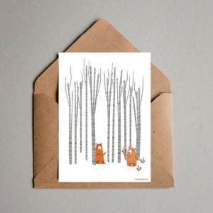 Kaart Ik zag twee beren...Studio Zwaanstraat 4