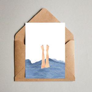Kaart 'Plons', Studio Zwaanstraat 5