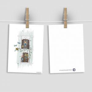 Kaart 'Balkon lente', Studio Zwaanstraat 1
