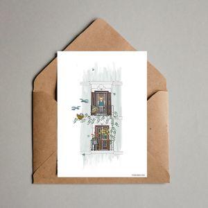 Kaart 'Balkon lente', Studio Zwaanstraat 3