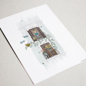 Kaart 'Balkon lente', Studio Zwaanstraat 4