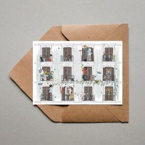 Dubbele kaart 'Lente', Studio Zwaanstraat 3