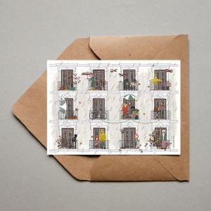 Dubbele kaart 'Herfst', Studio Zwaanstraat 2